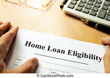 Document with title Home Loan Eligibility. - Document with...