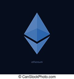 ether - isolated ethereum icon. vector, cryptocurrency logo...
