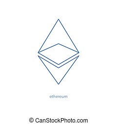 ether out - isolated ethereum linear icon. vector,...