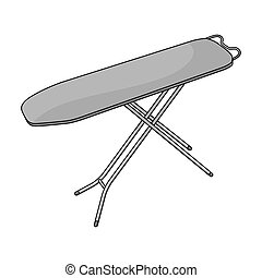 Ironing board. Dry cleaning single icon in outline style...