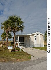 mobile home at camping ground st augustine florida