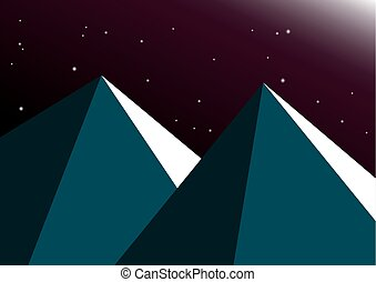 Moon night mountain background