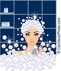 Spa beauty in vector