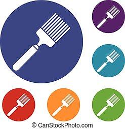 Brush icons set