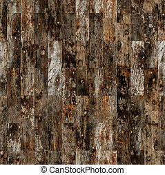 Antique Parquet Seamless - Background of rustic parquet wood...