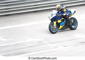 Superbike Race - Superbike racing participant in action