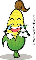 Joy face sweet corn character cartoon
