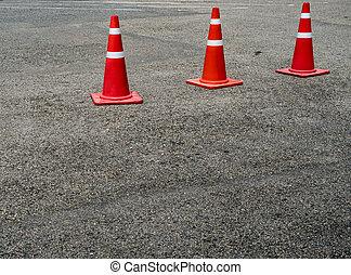 Orange Plastic cone