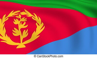 Flying Flag of ERITREA | LOOPED |