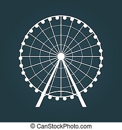 Ferris Wheel icon. Vector illustration.