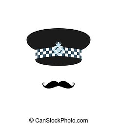 London police officer on white background. Avatar for app....