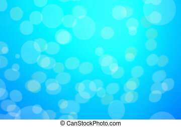 Abstract blue background with defocused bokeh, blur texture with copy space, poster for your design.