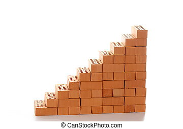 stairway symbol with bricks for growing up