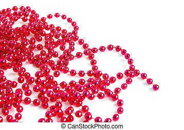 garland isolated on white for your text