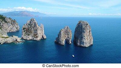 aerial view of Capri Island