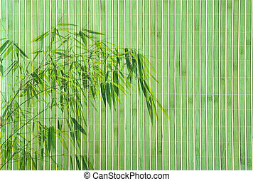 bamboo frame of bamboo-leaves background.
