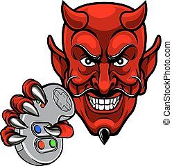 Devil Esports Sports Gamer Mascot - A devil cartoon...