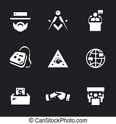 Vector Set of Religious community Icons. - Man, sign,...