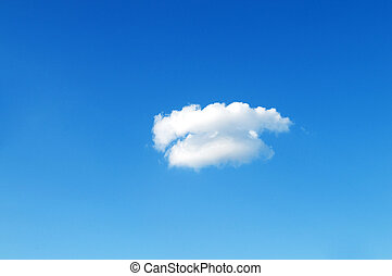 Single cloud on the bright summer day