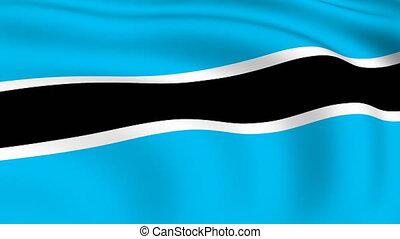 Flying Flag of Botswana | LOOPED |