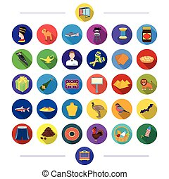 shop, medicine, textiles and other web icon in flat style.,...