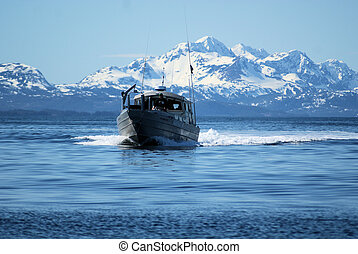 gill net boat PWS AK - gill net boat in prince willaim sound...