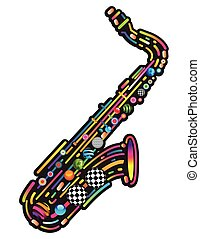 Jazzy colorful music background