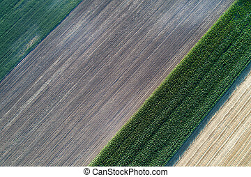 Farmlands shoot from air - Abstract image of farmlands. Top...