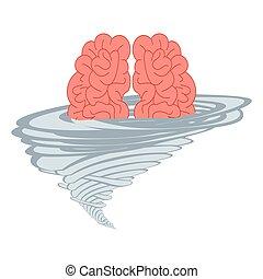 Brainstorm think idea vector illustration