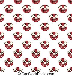 Tomahawk axe, indian color seamless pattern. Authentic...
