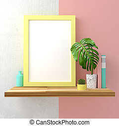Pastel Frame Mock Up - Modern pastel coloured mock up frame...