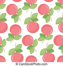 Pomegranate vector seamless pattern