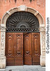 Entrance to a home in Verona, Veneto, Italy, Europe