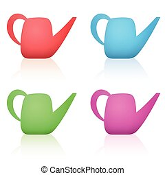 Watering Cans Colorful Set - Watering cans - colorful set...