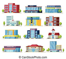 Colorful Municipal Buildings Collection - Colorful municipal...