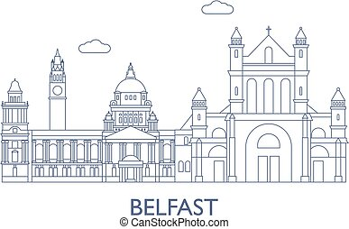 Belfast.The most famous buildings of the city