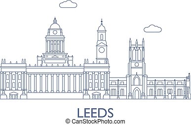 Leeds, The most famous buildings of the city - Leeds, United...