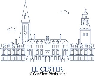 Leicester, The most famous buildings of the city -...
