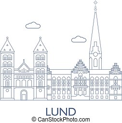 Lund, The most famous buildings of the city - Lund, Sweden....