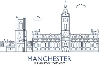 Manchester, The most famous buildings of the city