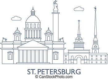 St.Petersburg, The most famous buildings of the city -...