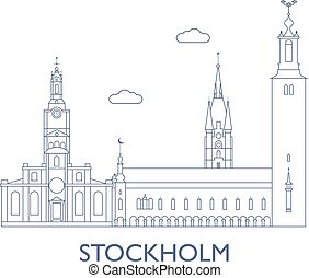 Stockholm, The most famous buildings of the city -...