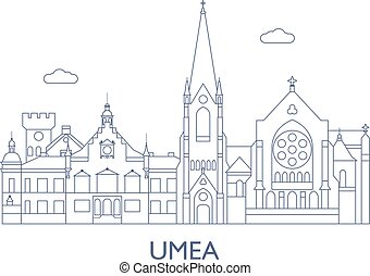 Umea, The most famous buildings of the city - Umea, Sweden....