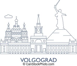 Volgograd, The most famous buildings of the city -...