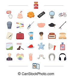 ritual, travel, holiday and other web icon in cartoon...