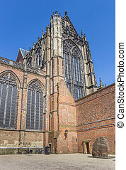 Historic Dom church in the center of Utrecht, Holland