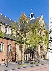 Old church Janskerk in the historic center of Utrecht,...
