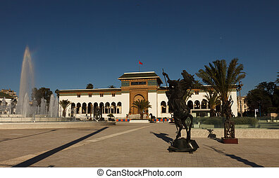 City Casablanca in Morocco - Palace of Justice on Mohammed V...