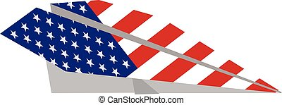 American aviation paper plane