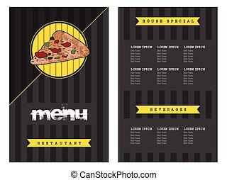Retro menu design